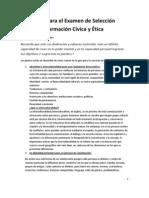 Guía para el examen de selección  Formación Cívica y Ética
