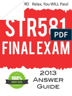STR 581 Final Exam Answers Guide for 2013