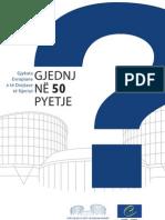 Gjykata Evropiane Per Te Drejtat e Njeriut - GJND