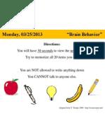 bellringer 03-25 -- brain games - memory