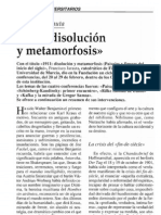 106315289 Francisco Jarauta Conferencia 1911 Disolusion y Metamorfosis