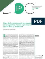 Mapa de la transparencia presupuestaria en la Argentina - CIPPEC