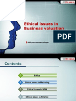 Ethical Issues in Business Valuation