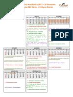 CalendarioAcademico 2012-2 SaoCarlos Araras