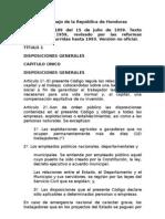 Código del Trabajo de La República de Honduras