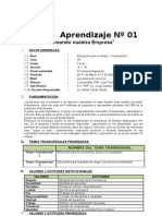 Unidad de Aprendizaje 01 - Empresa e Ideas de Negocios