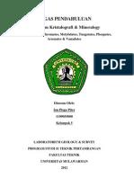 TP 4 Sulfates, Chromates, Molybdates, Tungstates, Phospates, Arsenates