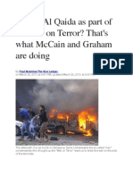 Aiding Al Qaida as Part of the War on Terror? That's What McCain and Graham Are Doing