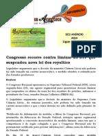 Congresso Recorre Contra Liminar Do STF Que Suspendeu Nova Lei Dos Royalties