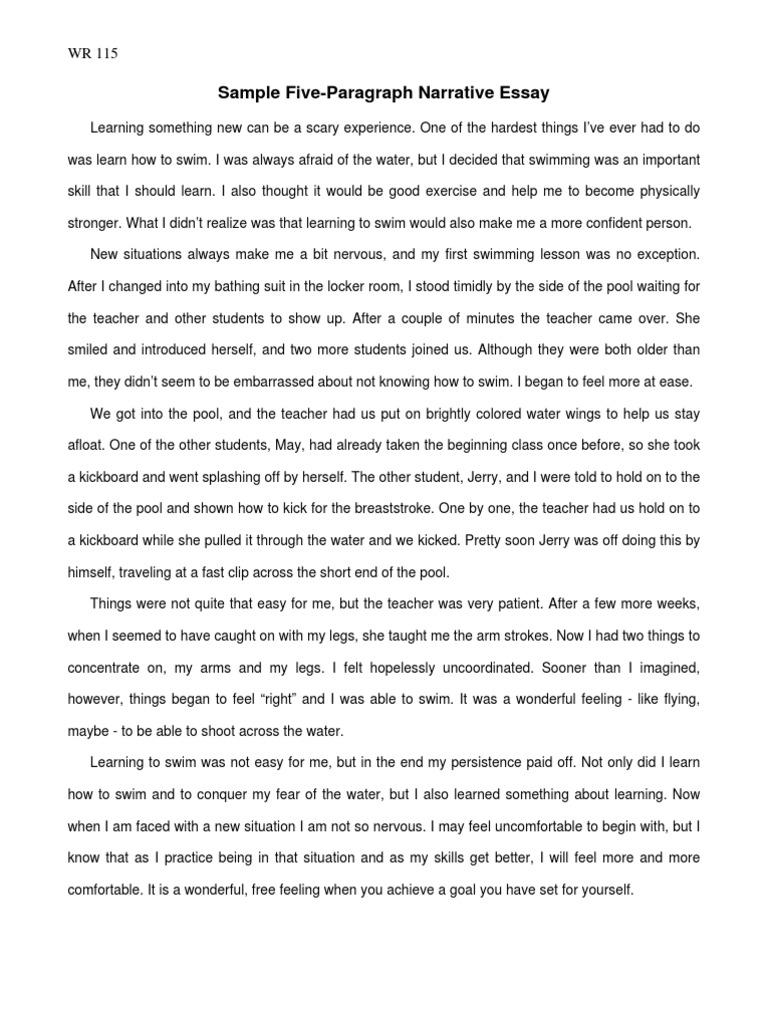 sample narrative essay pdf