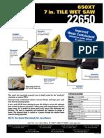 QEP Tile Wet Saw Manual