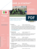Dépliant publicitaire Activités Mercredis PM Bloc 3 Préscolaire et 1e cycle 2012 2013