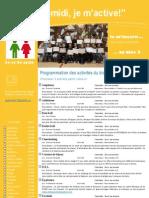 Dépliant publicitaire Activités Mercredis PM Bloc 3 2e et 3e cycle 2012 2013