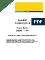ECON2102 Course Outline