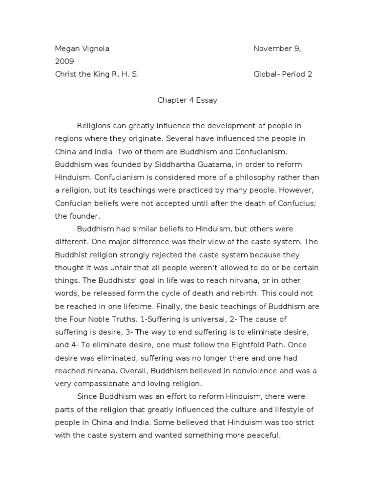 Essay About Healthy Diet Buddhism And Confucianism Essay Confucianism Nirvana Fahrenheit 451 Essay Thesis also High School Personal Statement Essay Examples Confucianism Essay  Hepatitze Good Proposal Essay Topics