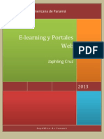 Portada E-learning y Portales Web (Japhling Cruz)