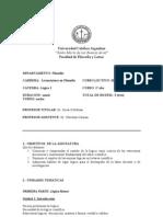 Programa de Lógica I - UCA
