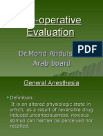 ِAnesthesia Pre Operative Evaluation