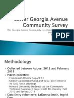 GA Ave Survey Preliminary Results 3-11-13