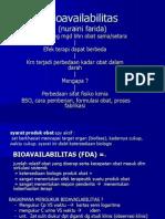 Bioavailabilitas DAN MONITORING