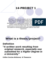 notes for project
