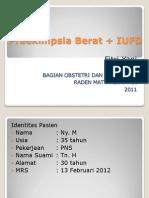 Preeklmpsia Berat + IUFD