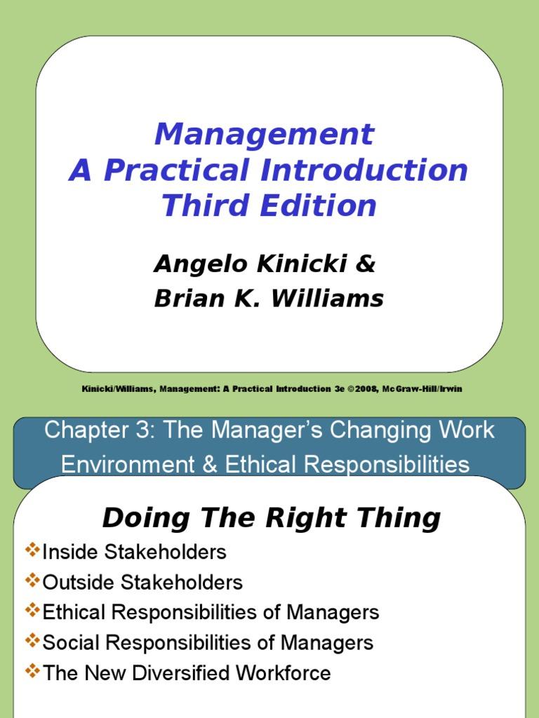 kinicki and williams sixth edition