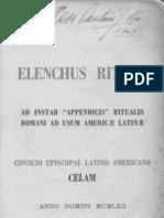 Elenchus Rituum 1962 Para America Latina CELAM