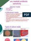 Lab 6 Culture Media& Antibiotic Sensitivity