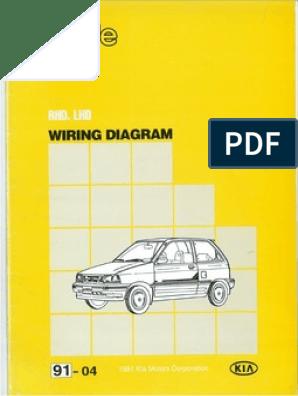 91 kia pride wiring diagram  scribd