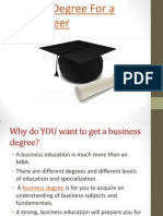 Business Degree for a Great Career