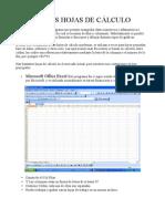 Excel, Calc y Spreadsheet