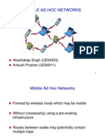 Mobile Ad Hoc Networks Printouts