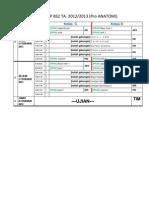 Jadwal BS2 Pro Anatomi 2012-2013