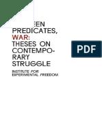Between Predicates, War