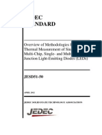 JESD51-50 2012 Overview of Methodologies for the Thermal Measurement