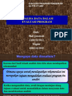 ANALISA DATA EVALUASI PROGRAM