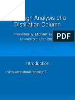 Presentation Redesign Analysis of Distillation Column