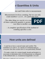 Physical Quantities & Units