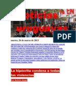 Noticias Uruguayas Martes 26 de Marzo Del 2013