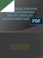 Bandingbeza Sukatan Pelajaran Bahasa Melayu Sekolah Rendah Kbsr