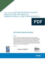 Solution - EMC VNX - FC for Vmware vSphere 4.1 - XenDesktop 5