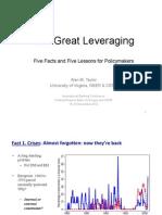 The Great Leveraging (Taylor NBER & CEPR November 2012)