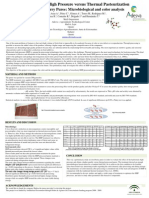 POSTER Hydrostatic High Pressure Versus Thermal Pasteurization on Strawberry Puree