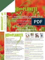 Néoplanète - Mediakit Et Tarifs