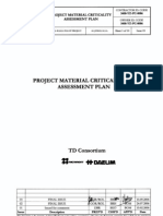3408 YZ PC 0006 IS03 Material Criticality Assessment Plan