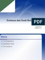 PTI444.06 - Estimasi Dan Studi Kelayakan