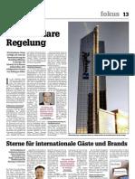 """""""Sterne für internationale Gäste und Brands"""", Artikel in der htr hotelrevue NR. 12/21 März 2013"""