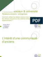 Les réseaux sociaux d'anciens & entreprises - Présentation de Nicolas Bilet (ICP)