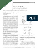 Axilchirality R S Assaignments JCE